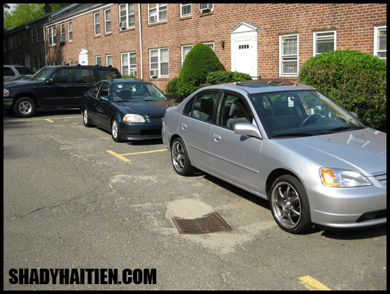 1997 Civic and 2003 Civic - front