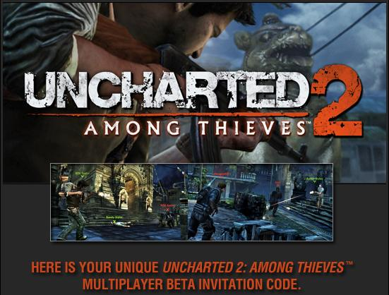 Uncharted 2 Among Thieves Mulitplayer Beta Code